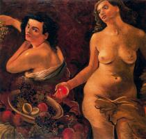 Андре Дерен. Две обнаженные женщины и натюрморт