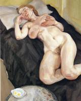 Люсьен Фрейд. Крепкий сон обнаженной женщины