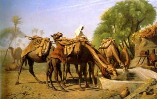 Жан-Леон Жером. Верблюды у фонтана