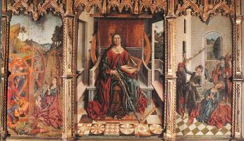Fernando Gallego. Triptych Of St Catherine