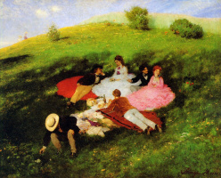 Pal Synieux-Mersche. The may picnic (luncheon on the grass)