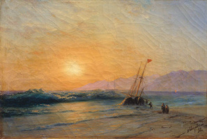 Ivan Aivazovsky. Sunset on the sea
