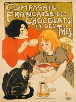 Theophile-Alexander Steinlen. French manufacturer of chocolate candy for tea