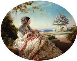 Франц Ксавер Винтерхальтер. Королева Виктория с принцем Артуром