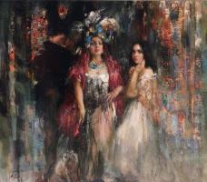 "Nikolay Dmitrievich Blokhin. Girls from Venice. The triptych ""Venezia"" (Central part)"