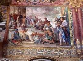 Джованни Бальоне (Баглионе). Пожертвования Константина. Роспись Латеранской базилики собора Святого Иоанна Крестителя в Риме