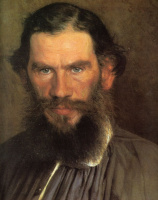 Иван Николаевич Крамской. Портрет писателя Льва Николаевича Толстого. Фрагмент