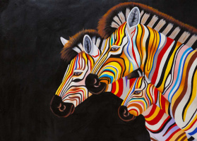 Christina Viver. Multicolored Zebra N5