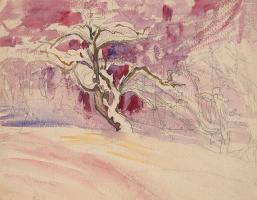 Giovanni Giacometti. Pink tree