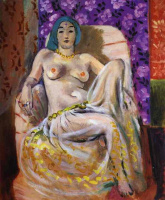 Henri Matisse. Raised knee (Seated odalisque)
