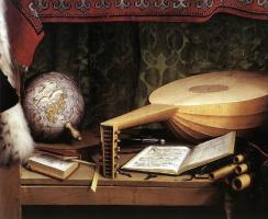 Ганс Гольбейн Младший. Послы (Портрет Жана де Дентевиля и Жоржа де Сельва). Фрагмент