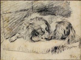 Франц ван Мирис Старший. Спящий спаниель