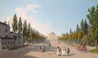 Матиас Габриэль Лори  Младший. Вид на Большой дворец