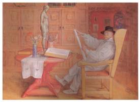 Карл Ларссон. Автопортрет в студии