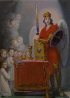 Владимир Лукич Боровиковский. Дети у престола, охраняемые архангелом Михаилом