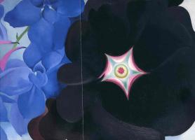 Джорджия О'Киф. Черный холлихок - синий дельфиниум