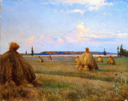 Андрей Николаевич Шильдер. Пейзаж со снопами,