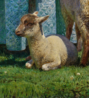 Форд Мэдокс Браун. Милые овечки. Фрагмент. Ягненок