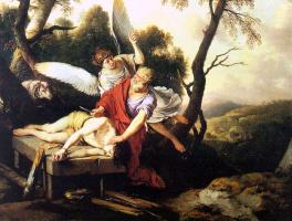 Лахур. Авраам и Исаак