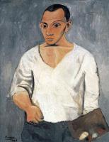 Пабло Пикассо. Автопортрет с палитрой