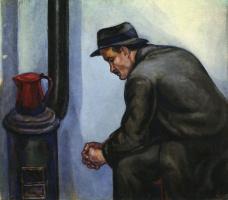 Давид Петрович Штеренберг. Рабочий у печки