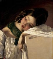 Фридрих фон Амерлинг. Спящая девушка. 1834