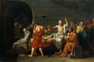 Jacques-Louis David. Смерть Сократа