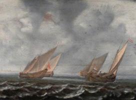 Ян Порселлис. Корабли на море