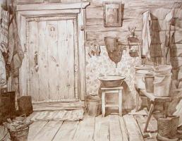 Sergey Alekseevich Makarov. Rustic interior