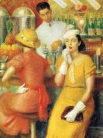 Уильям Джеймс Глакенс. Дама в желтом платье
