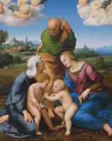 Рафаэль Санти. Святое семейство Каниджиани (Святое семейство со св. Елизаветой и св. Иоанном Крестителем или Мадонна Каниджиани)