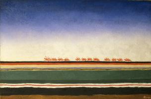 Kazimir Malevich. Red cavalry gallops