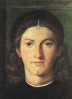 Lorenzo Lotto. Head of a young man