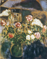 Marc Chagall. Peonies and lilacs