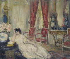 Пьер Лапрад. Жена художника в гостинной