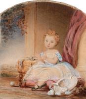 Кристина Робертсон. Портрет девушки. 1843