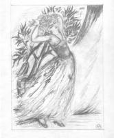 Наталья Сергеевна Гончарова. Пробуждение (эскиз иллюстрации к поэме М. Цветаевой «Молодец»)