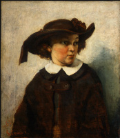 Gustave Courbet. Portrait of a young girl