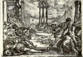 Клод Виньон. Резня во время правления второго триумвирата