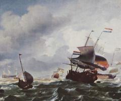 Людолф Бакхейсен. Корабли в бурю