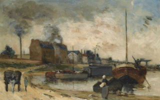 The coal factory and the quay of Grenelle