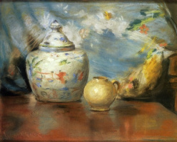 William Merritt Chase. Still life in soft colors