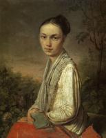 Алексей Гаврилович Венецианов. Портрет В. С. Путятиной