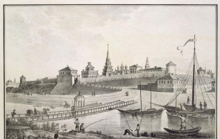 Василий Степанович Турин. Вид крепости со стороны реки Казанки