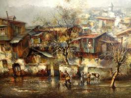 Vazha Meskhi. Old artist