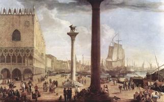 Luke Carlevaris. Waterfront views with the Doge's Palace