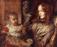 Альфред Эмиль-Леопольд Стевенс. Миссис Элизабет Митчел со своим ребенком. 1851