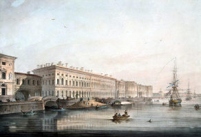 Karl Petrovich Beggrov. View of Palace embankment