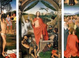 Ганс Мемлинг. Воскресение и Мученичеством Святого Себастьяна