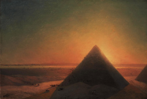Ivan Aivazovsky. The great pyramid at Giza